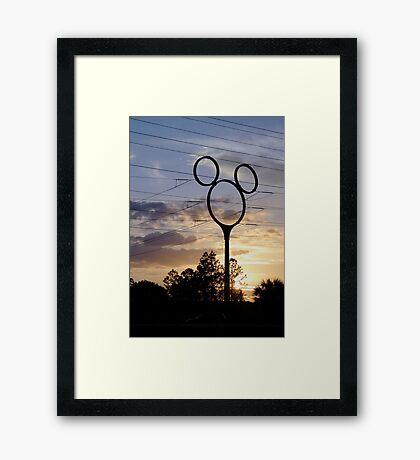 Orlando Sunset Framed Print