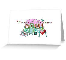 Cute Caravan/Trailer Greeting Card
