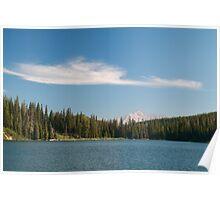 Cloud above lake Poster