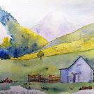 Mountains in France - from Philippe Lhez painting by Annie Wise