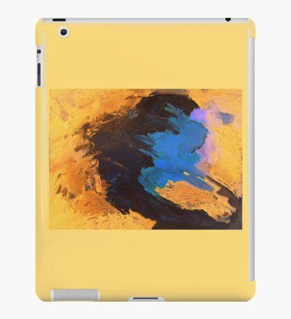 Orange, Black and Blue iPad Case/Skin