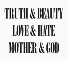 Truth & Beauty, Love & Hate, Mother & God (Manic Street Preachers) by jezkemp