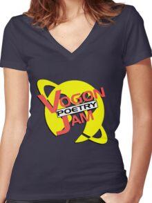 Vogon Poetry Jam (just logo) Women's Fitted V-Neck T-Shirt