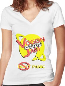 Vogon Poetry Jam Women's Fitted V-Neck T-Shirt