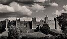 Framlingham Castle In Monotone by Darren Burroughs