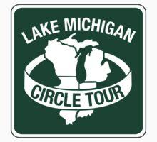 Lake Michigan Circle Tour, Sign, Wisconsin Kids Tee