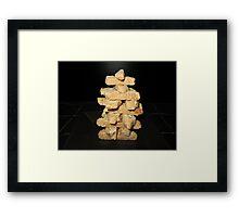 Biscotti Jenga Framed Print