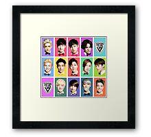 SEVENTEEN Faces Framed Print