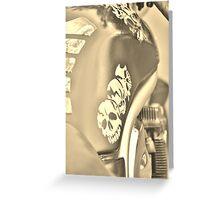 ghost rider - suzuki bandit motorbike Greeting Card