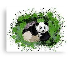 Cute playful Panda Canvas Print