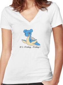 Friday Lapras Women's Fitted V-Neck T-Shirt