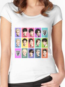 SEVENTEEN Faces Women's Fitted Scoop T-Shirt