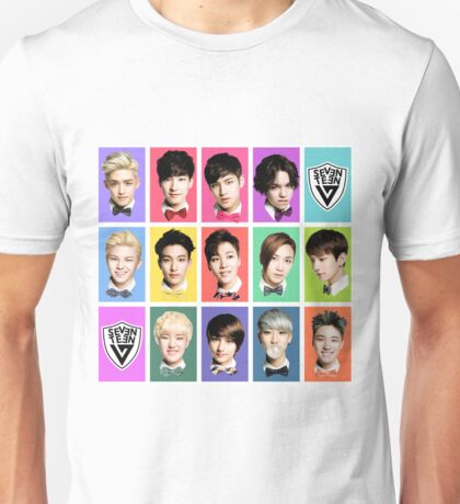 SEVENTEEN Faces Unisex T-Shirt