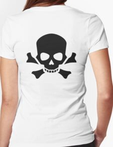 Skull and Crossbones, Halloween, Pirate, Death, Poison, BLACK T-Shirt