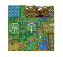 The Legend of Zelda: A Link to the Past Map Art Print