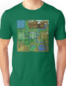 The Legend of Zelda: A Link to the Past Map Unisex T-Shirt