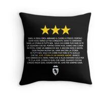 Juve storia di un grande amore (black) Throw Pillow