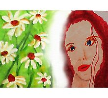 Revised in photshop , Carrie, watercolor Photographic Print