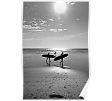 """Board at the beach, St Ouen's Bay, Jersey"" Poster"