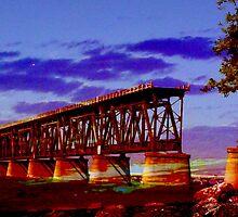 Old Seven Mile Bridge, Bahia Honda, FL by Ellen Turner