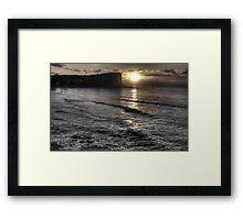 A Touch of Colour  - Avalon Headland & Beach - The HDR Experience Framed Print