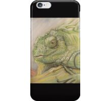 Iguana Pastel painting iPhone Case/Skin
