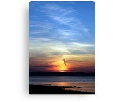 Ballyholme Sundown Canvas Print