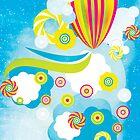 Hot air balloon  by torishaa
