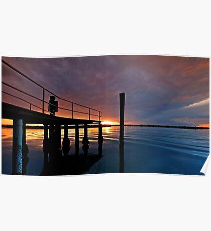 Tippler's Sunset - South Stradbroke Island Poster