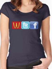 WTF Mcdonalds, Twitter And Facebook Women's Fitted Scoop T-Shirt