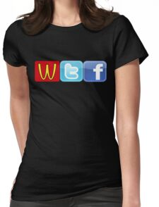 WTF Mcdonalds, Twitter And Facebook Womens Fitted T-Shirt