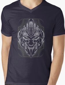 Pinstripe  Megatron Mens V-Neck T-Shirt
