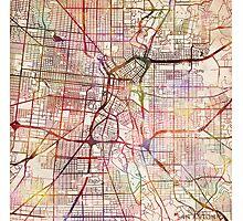 San Antonio map Photographic Print