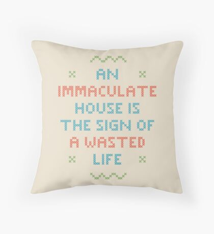 Wasted Life Throw Pillow