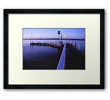 anderson inlet jetty inverloch Framed Print