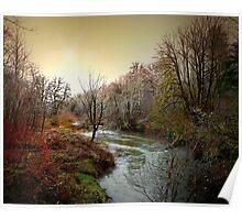 Little Fall Creek Winters Glow Poster