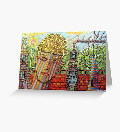 342 - FANTASY FACE - DAVE EDWARDS - COLOURED PENCILS - 2011 Greeting Card