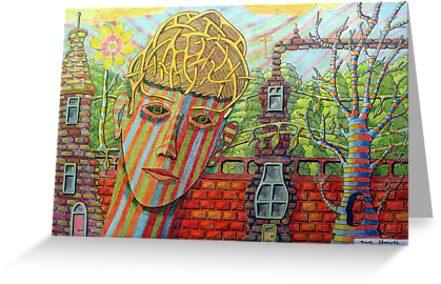 342 - FANTASY FACE - DAVE EDWARDS - COLOURED PENCILS - 2011 by BLYTHART