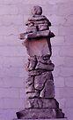 Inuksuk in Violet  by Kayleigh Walmsley