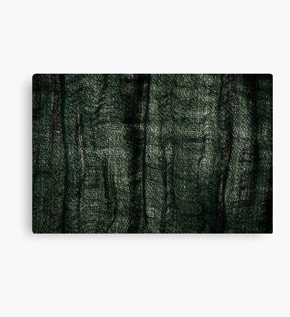 Green grunge cloth texture Canvas Print
