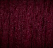 Claret grunge cloth texture by Arletta Cwalina