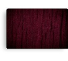 Claret grunge cloth texture Canvas Print
