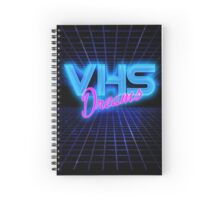 VHS Dreams Grid Spiral Notebook