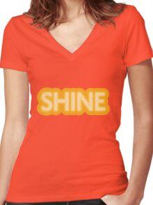 Shine Women's Fitted V-Neck T-Shirt