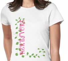 Herbivore in Pink Womens Fitted T-Shirt