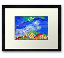 The Blue Mountain Trail. Framed Print