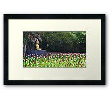 Flowers like followers Framed Print