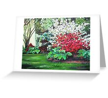 Red Blossoms Greeting Card