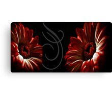 Floral Red Heads Canvas Print