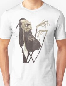 Vector of a Spindly Bearded Man T-Shirt